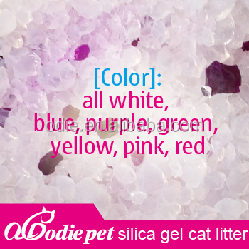 1-8mm silica gel litter sand/ crystal cat litter bulk with differrent fragrance