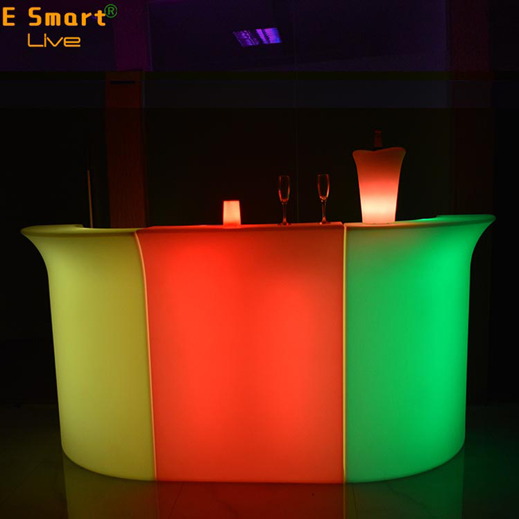 restaurant bar counter/Straight Front Counter,Illuminated Led Plastic Portable Led High Bar Counter Furniture