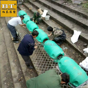 floating barrier Reasonable Price Heavy Duty Tensa Pliable Floating Barrier River trash Surface remediation Shallow water