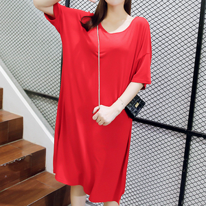 O-Neck Clothes For Pregnant Women Loose Casual Style Dress