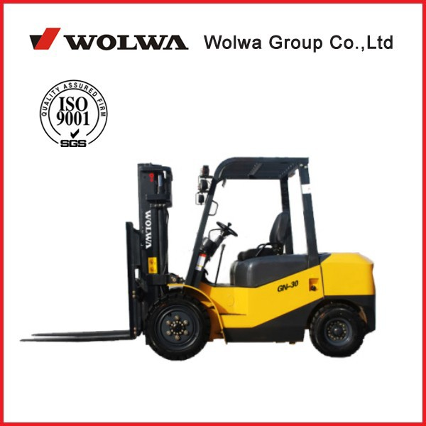 wolwa brand 3 ton diesel forklift with lifting height 3 meter