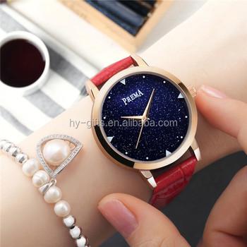 ac3f0c1f5ae Novo estilo das mulheres da lua barato black watch dial céu relógio de  senhora ...