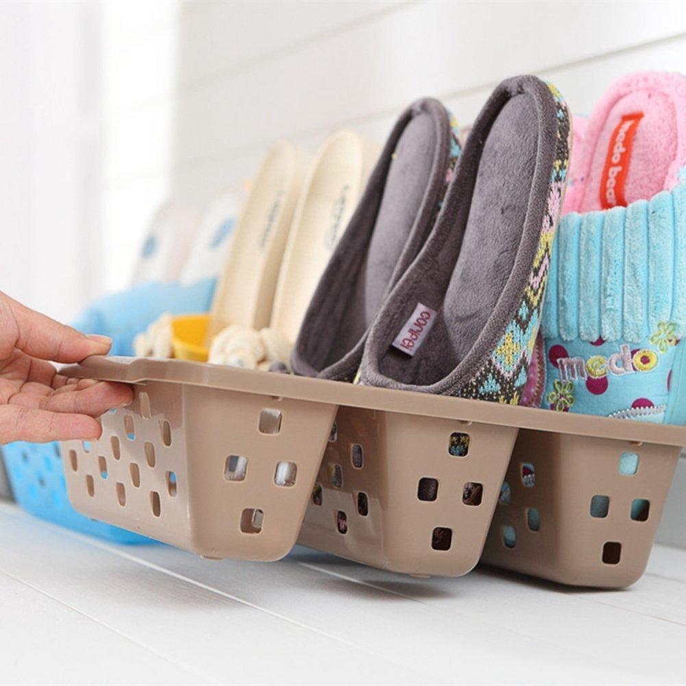 Creative storage shoe rack home stereo shoe rack simple shoe storage rack dormitory plastic shoe box-A