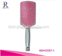 Bling Rhinestone Crystal Paddle Hair Brush