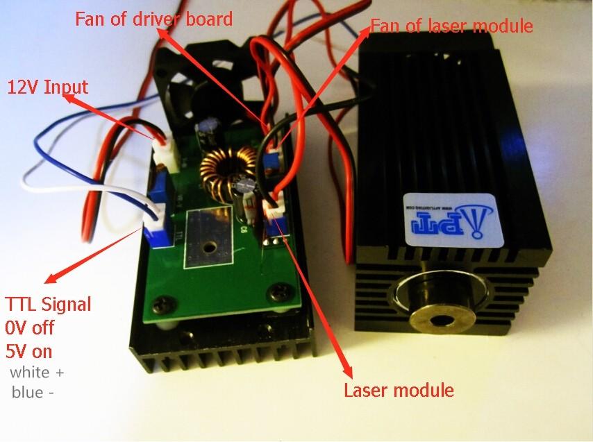 אמיתי חדש 2000mw/2w 445 445nm 450 45nm כחול Focusable שלב אור RGB מודול לייזר/מתח גבוה לבן בלייזר/עיצוב קומפקטי/L TT