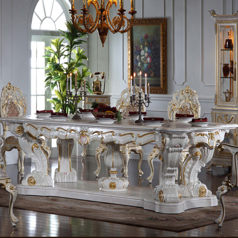 European Dining Room Furniture: European Court Luxurious Classical Furniture Painted Wood