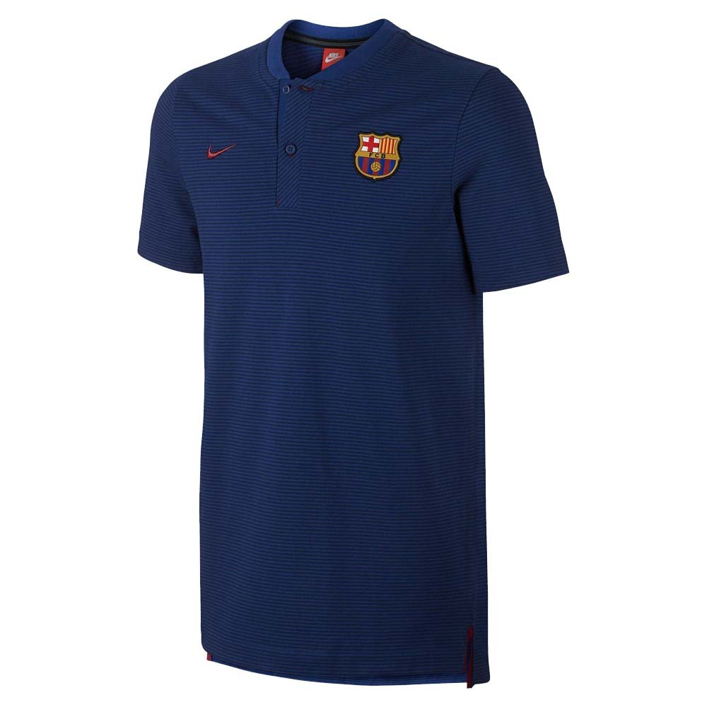 be7c4d24235 Get Quotations · 2017-2018 Barcelona Nike Authentic Polo Shirt (Obsidian)