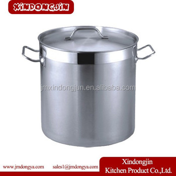 Yk 3434 30 40 50 60cm Deep Large Stainless Steel Stock Pot Big Size