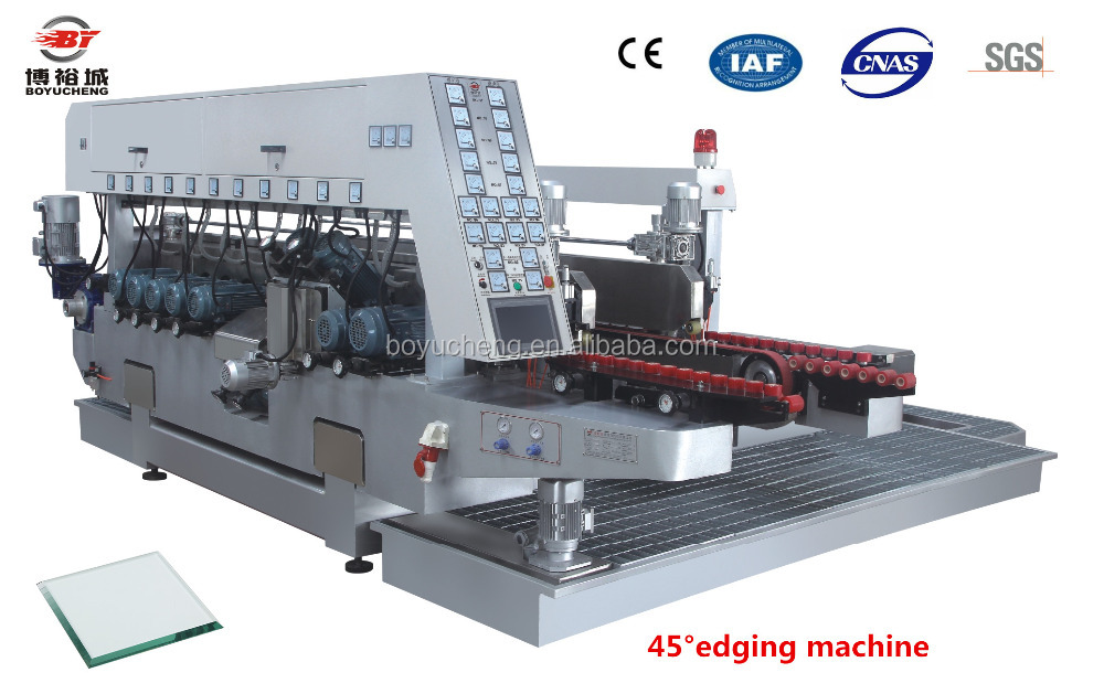 High efficiency 45 degree glass double edging polishing machine