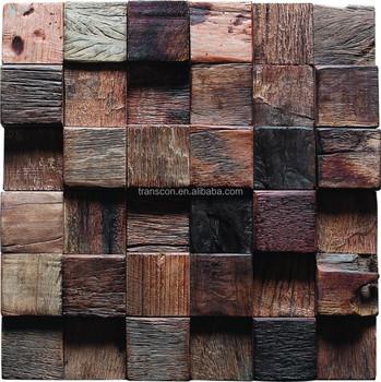Art deco muur panelen oude schip hout moza ek goedkope prijzen buy product on - Deco tv muur ...