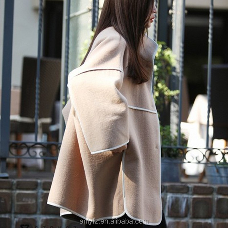 Autumn and winter latest pant coat picture loose big yards cloth coat for ladies