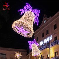 Outdoor Waterproof LED Christmas Tree Decoration Rope 2D 3D Bell Motif Light
