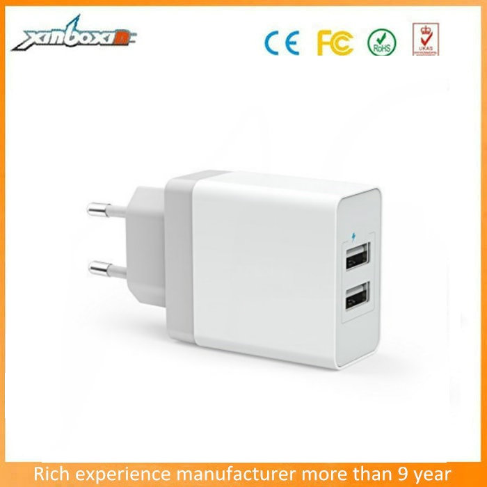 For anker powerport 17W usb charger AC wall adapter,Dual port travel wall usb rapid charging AC wall charger for iphone
