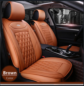 Hot sale full set type Universal leather car seat cover with car seat back organizer for Benz S class