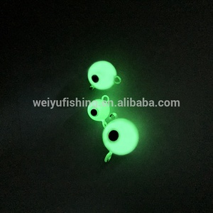 speed metal jig lure Spherical Luminous ball Lead Jig wholesale Fishing Tackle lead jig head OEM fishing lures
