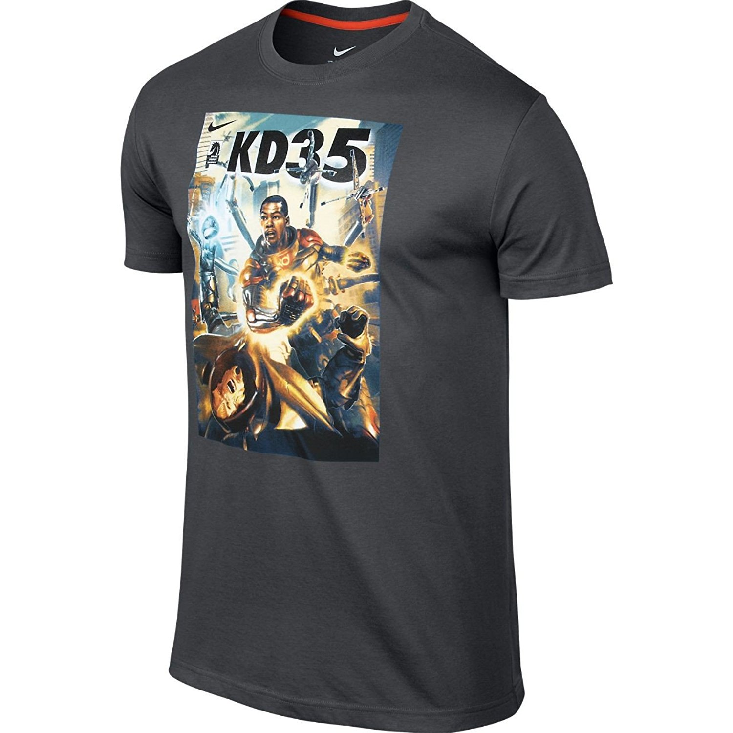 detailing babd4 6a6ea Get Quotations · Nike Mens KD Hero Comic Basketball Shirt Anthracite Gray  Kevin Durant