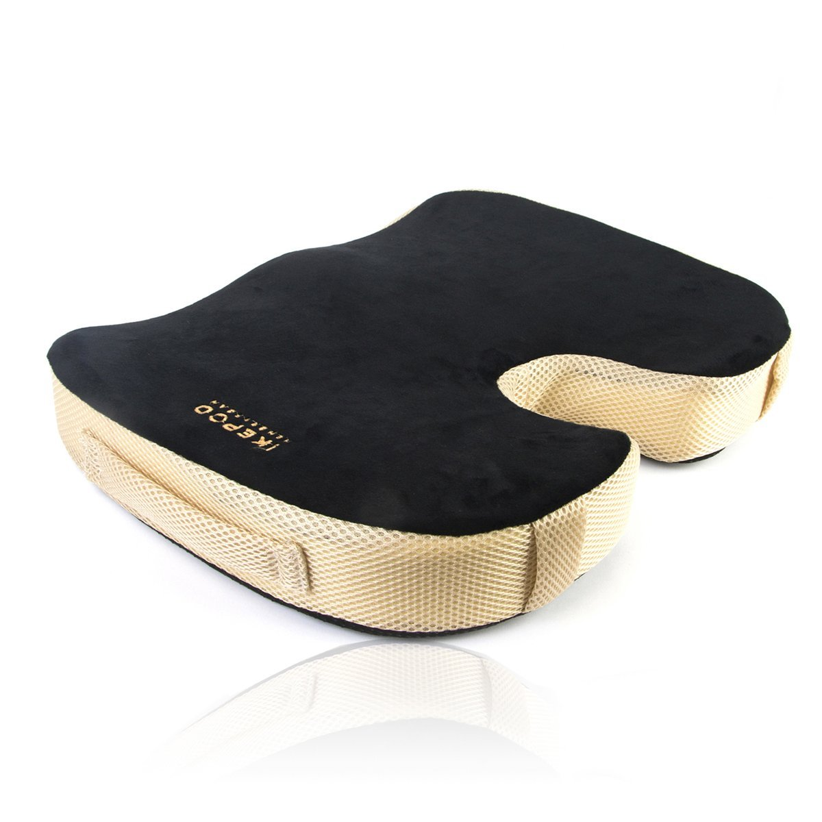 Coccyx seat cushion made by pure memory foam from Ikepod