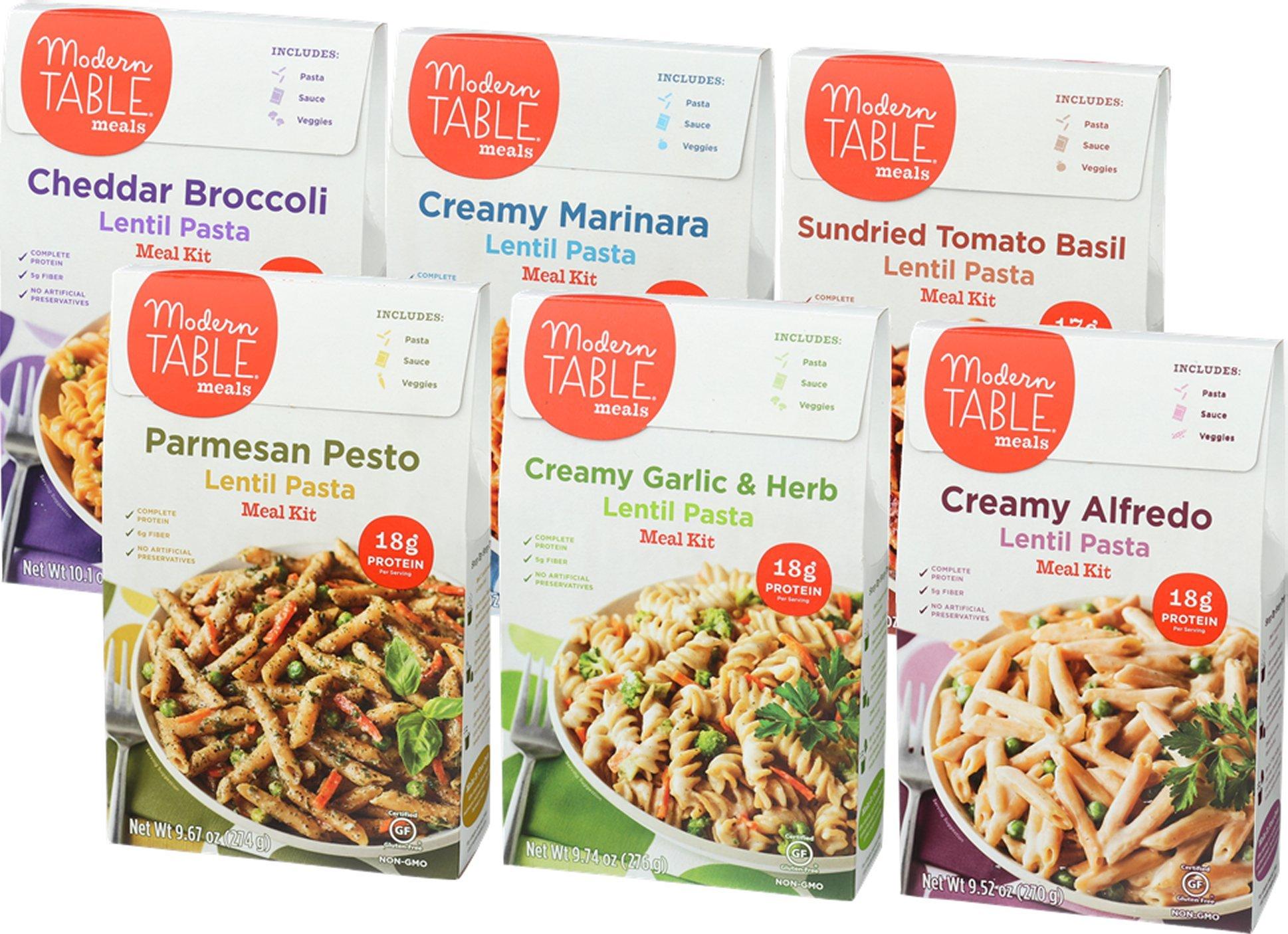 Modern Table Gluten Free Lentil Pasta Meal Kit, Variety Pack, 6 Count