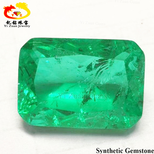 beautiful hydrothermal emerald rough gemstone for 18k gold jewelry  decoration