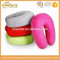 Factory price cheap ergonomic headrest memory foam neck travel pillow