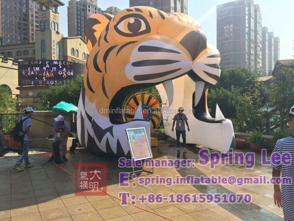inflatable tiger head,inflatable sport tunnel,inflatable tiger mascot