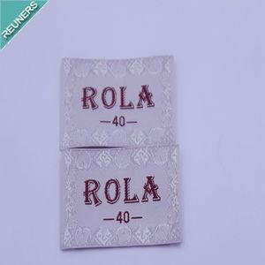 Custom Good price woven labels for brand cloth