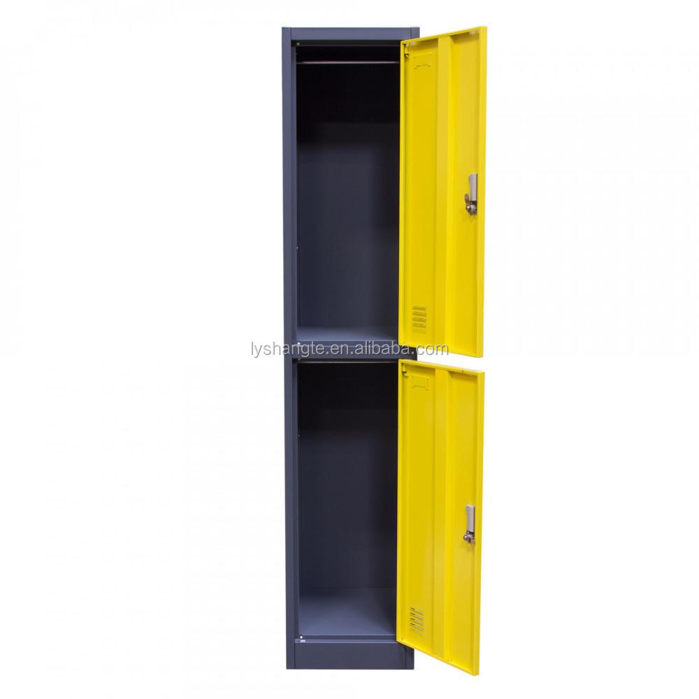 two doors hanging clothes storage cheap metal lockers