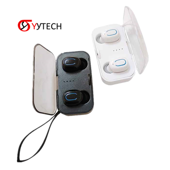 SYYTECH T18 TWS touch Wireless music Headphone V5.0Bluetooth Noise reduction With Battery compartment Sports Headset