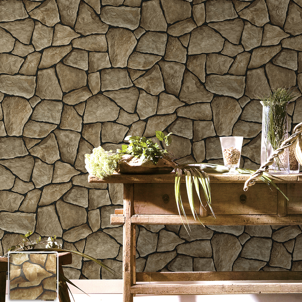 faux stone brick wallpaper - photo #36