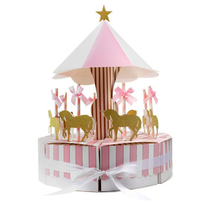 Baby Shower Favors Unicorn Candy Boxes Boys Girls Birthday Party Favors Gift Candy Box Event Party Supplies Carousel Gift Box