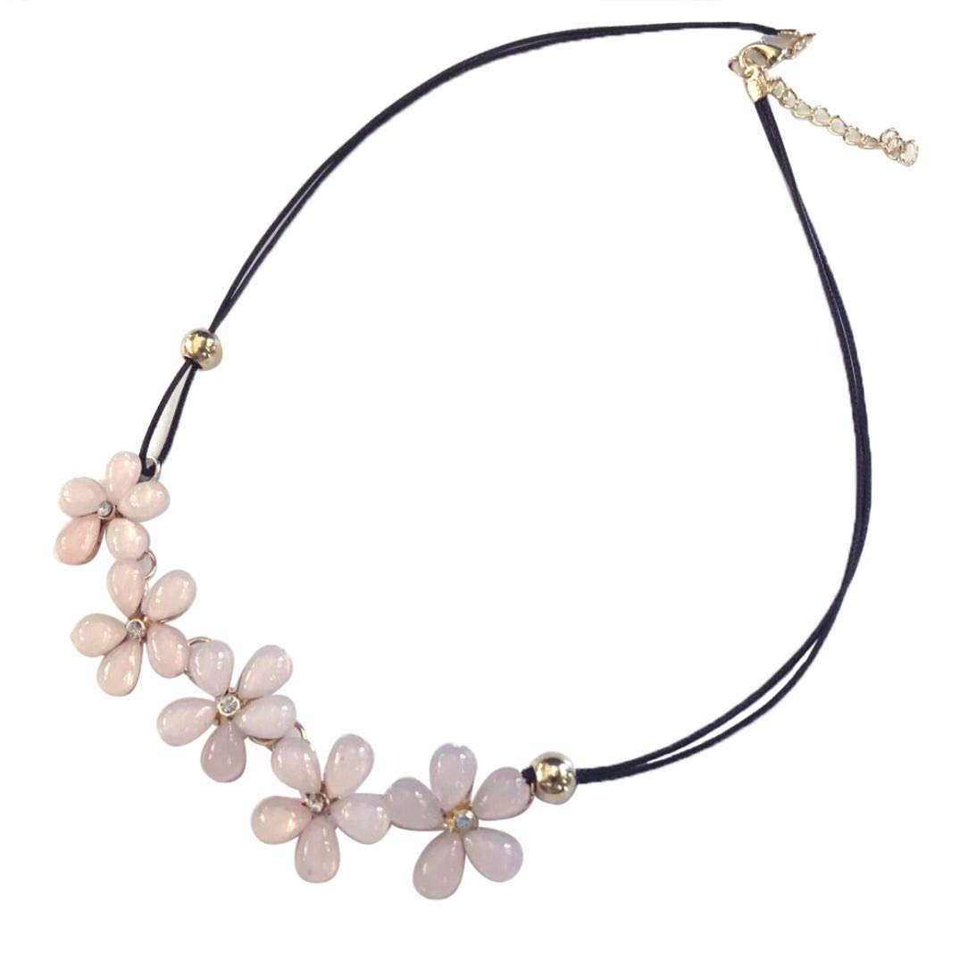 Gbell Crystal Flower Charm Choker- Fashion Chunky Bib Chain Necklace Pendant for Girls Women,for Wedding Party,1Pcs 19.7×2.0 inch