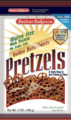 Kay's Naturals Gluten Free High Protein Golden Butter Twists Pretzels, 5-Ounce Bags (Pack of 12)