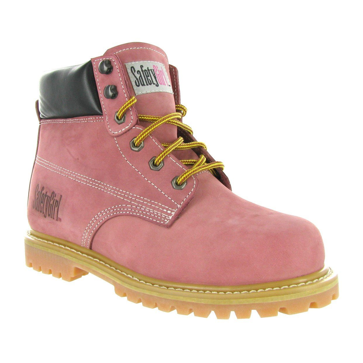 f841b7e81f2 Get Quotations · Safety Girl GS003-Lt Pink-7W Steel Toe Work Boots - Light  Pink -