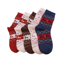 Christmas Warm Tube Socks Long Thick Knitted Wool Sock