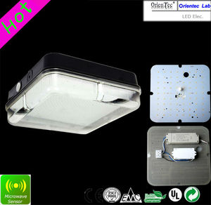 72 LED IP65 led sensor Square bulkhead light fitting