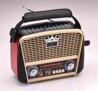 HOT SALE WITH USB.SD.TF MP3 PLAYER RETRO SOLAR PORTABLE RADIO