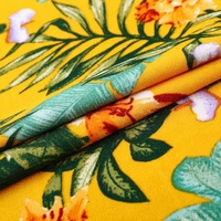 Beach summer textiles printed tropical polyester fabric flower for dress