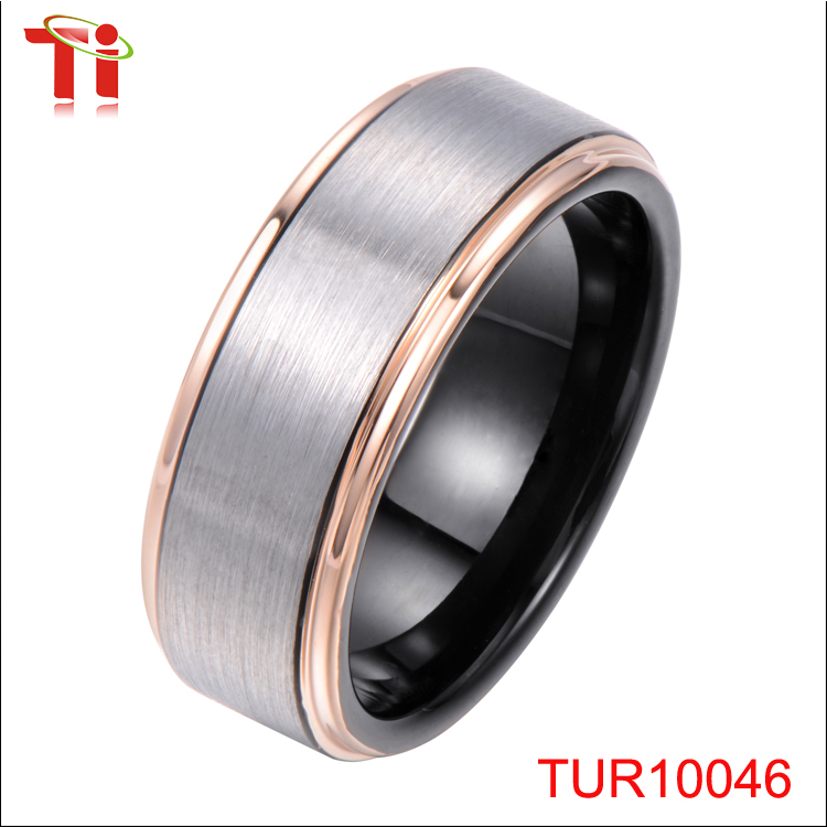 Tungsten Women Ring Tungsten Firefighter Wedding Rings Matte