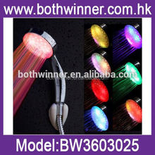 new 7 colour led shower head bathroom water faucet light	, TR131,	head shower