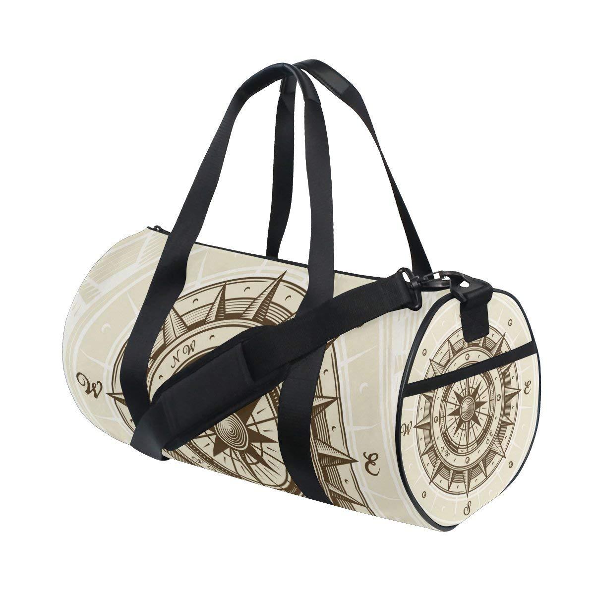 AHOMY Canvas Sports Gym Bag Mexican Pattern Print Vintage Travel Shoulder Bag