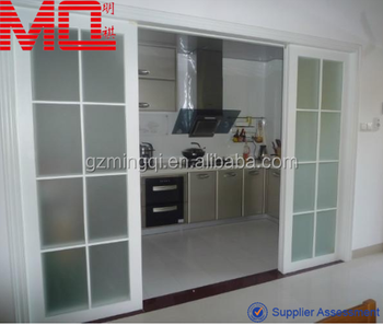 Pvc Kitchen Gl Sliding Door With Grill Design