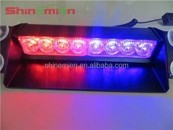 Awesome Red Blue Led Police Lights/LED Warning Strobe Flashing Car Windscreen Lights Amazing Pictures