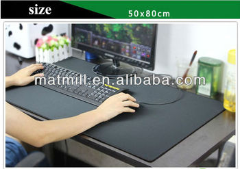 Eco Rubber Printed Office Desk Pad Decorative Large Size Desk Pads