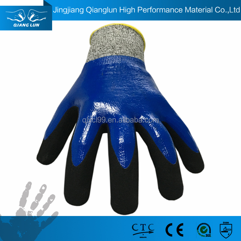 Durable double nitrile HPPE lined safety glove manufacturers