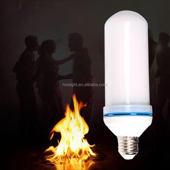 E26 Led Flickering Flame Light Bulbs Super Fire Flashlight Torch Lamp For Outdoor Landscape
