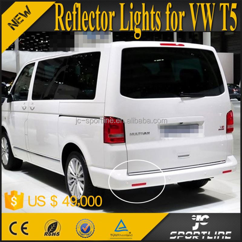 T5 Bumper Reflectors Lights Brake lamp for VW T5 Transporter Caravelle 14up