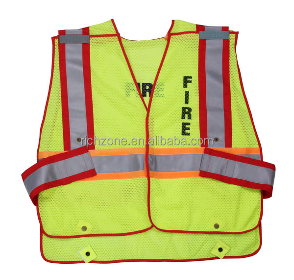 2017 NEW ! 5 tear away reflective work vest, fire police safety vest