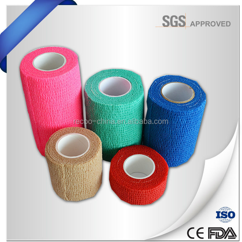 Non-woven Elastic Medical Self Adhesive Cohesive Bandage Vet Wrap Equine Veterinary New Products for Horse Racing Protection