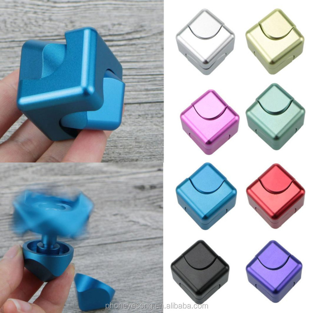 Aluminum Alloy Magic Cube Magnetic Rotating Hand Spinner Whirlwind Square Finger Gyro EDC Decompression Toys