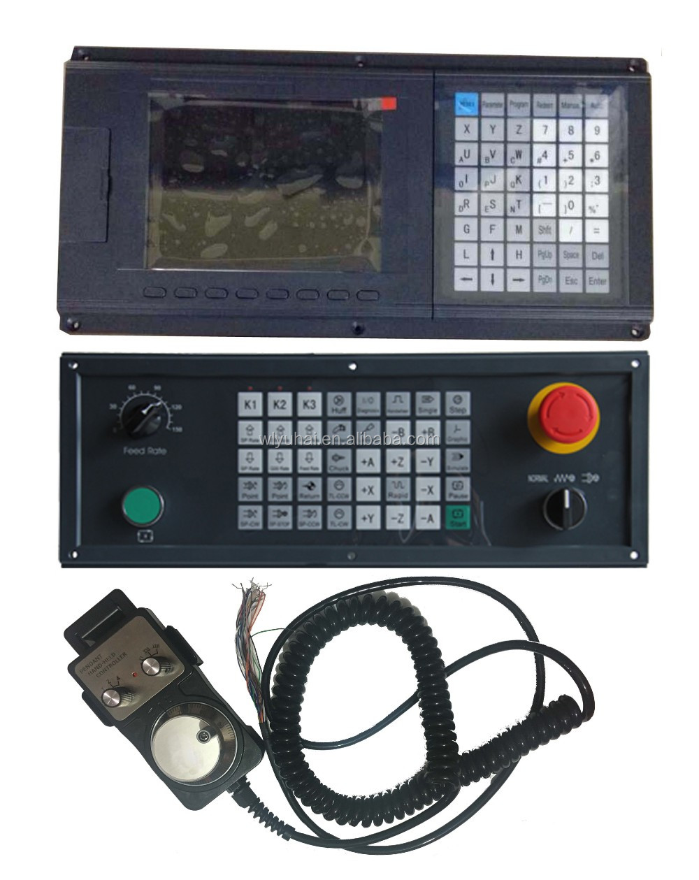 Semi closed loop 2axis lathe cnc controller price
